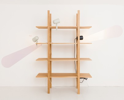 The wooden shelf